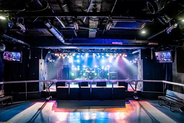高崎clubFLEEZのステージ。