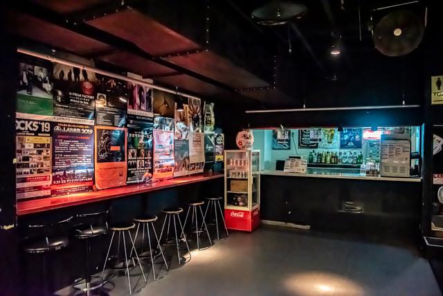 高崎clubFLEEZのドリンクカウンター。