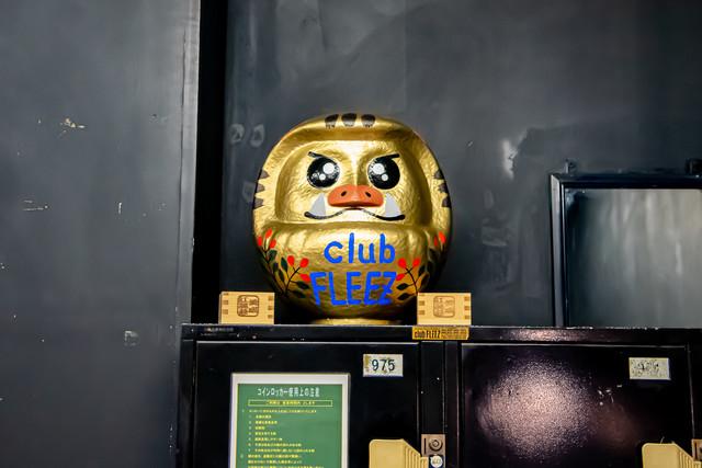 高崎clubFLEEZに置かれているだるま。
