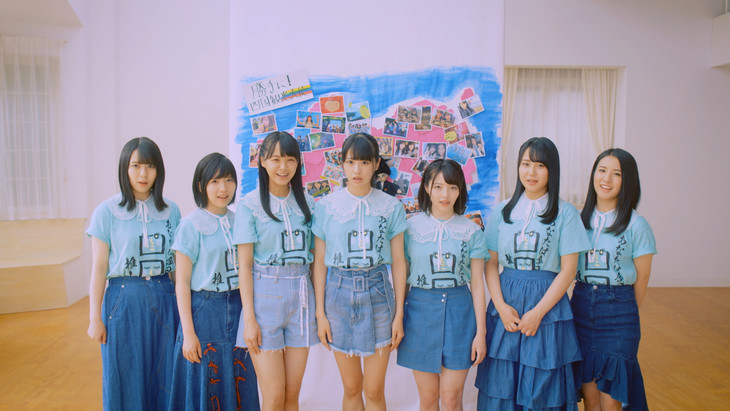 勝手に!四国観光大使「海の色を知っているか?」ミュージックビデオのワンシーン。(c)STU / KING RECORDS