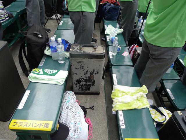 阪神甲子園球場のブラスバンド席。