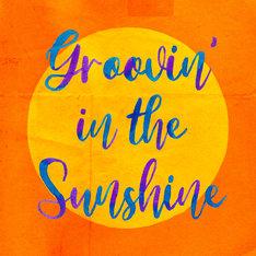 DJ HASEBE「Groovin' in the Sunshine feat. BASI & 向井太一」ジャケット