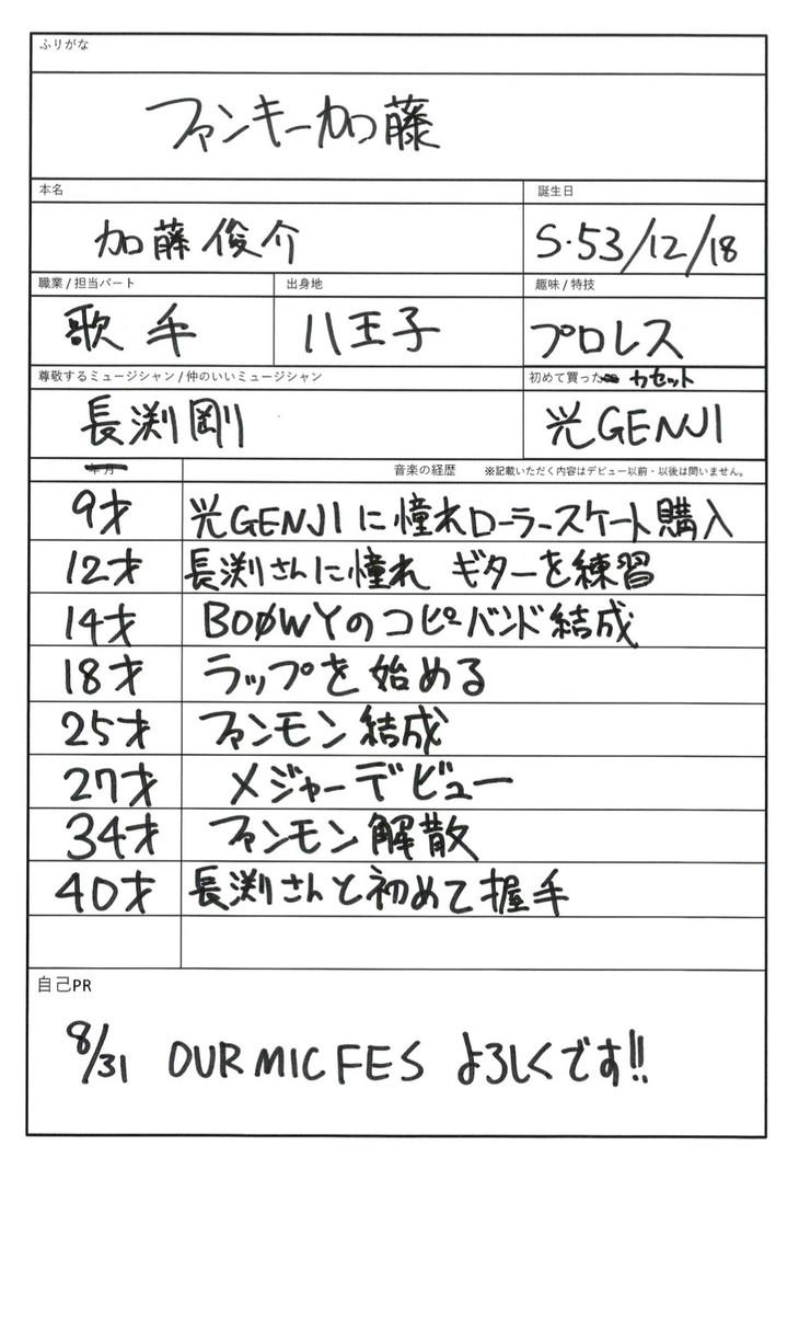 ファンキー加藤の音楽履歴書