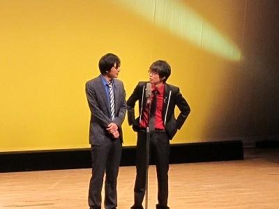 磁石の漫才。永沢は親友を見送る場面をやりたいと言い出す。