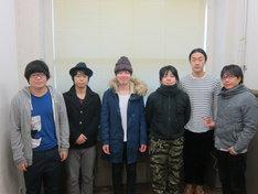 2月3日(日)、東京・ルミネtheよしもとにてコントライブ「できる7人」を開催するライス関町、ライス田所、グランジ遠山、犬の心・池谷、グランジ五明、犬の心・押見(左から)。