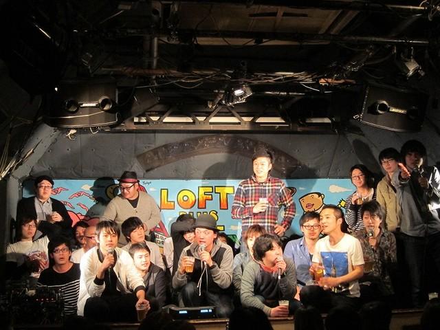 3月1日、東京・新宿ロフトプラスワンにて行われたオールナイトトークライブ「FKD48 TALK LIVE~虎視眈々~」の様子。