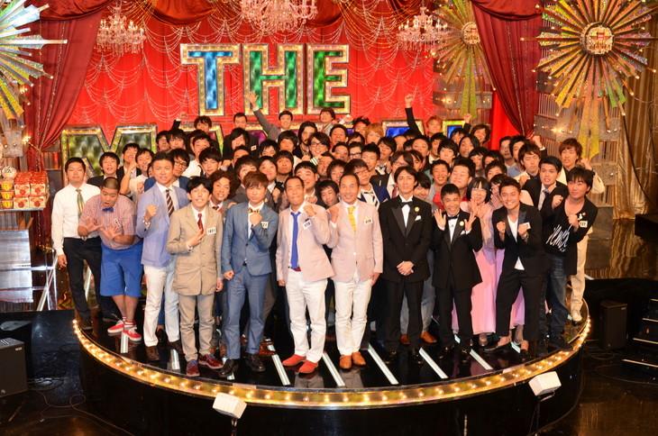 「日清食品 THE MANZAI 2014 認定漫才師50組大お披露目SP~今年一番おもしろい漫才師は誰だ!?~」収録後のフォトセッションの模様。