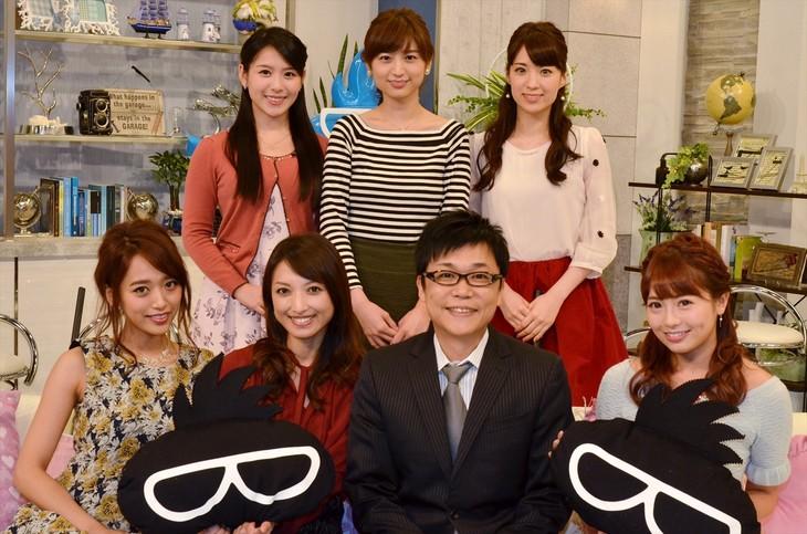 BSスカパー!の新番組に出演する(前列左から)近藤千尋、望月理恵、やるせなす中村、鈴木あや、(後列左から)玉木碧、上野優花、色紙千尋。