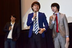 MCを務めた三四郎と、佐久間宣行監督(左)。