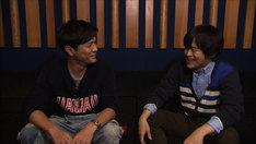 「SWITCHインタビュー 達人達(たち)」に出演する森山直太朗とバカリズム(左から)。(c)NHK