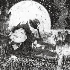 赤飯のベストアルバム「SEKIHAN~許諾出たベスト~」のジャケット。キングコング西野がイラストを手がけた。