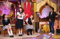 左から亀井京子、高田万由子、やしろ優、チュートリアル徳井。 (c)日本テレビ