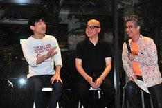 左からなだぎ武、伊藤隆介、おかけんた。
