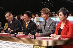 左からオール巨人、西川きよし、ヒロミ、湊裕美子。 (c)日本テレビ