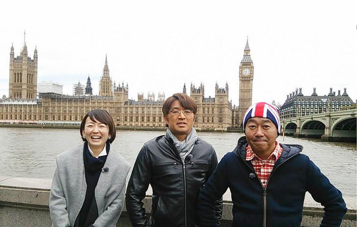 左から、狩野恵里(テレビ東京アナウンサー)、さまぁ~ず大竹、さまぁ~ず三村。(c)テレビ東京