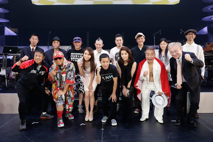 「岡村隆史のオールナイトニッポン歌謡祭 in 横浜アリーナ」の出演者たち。