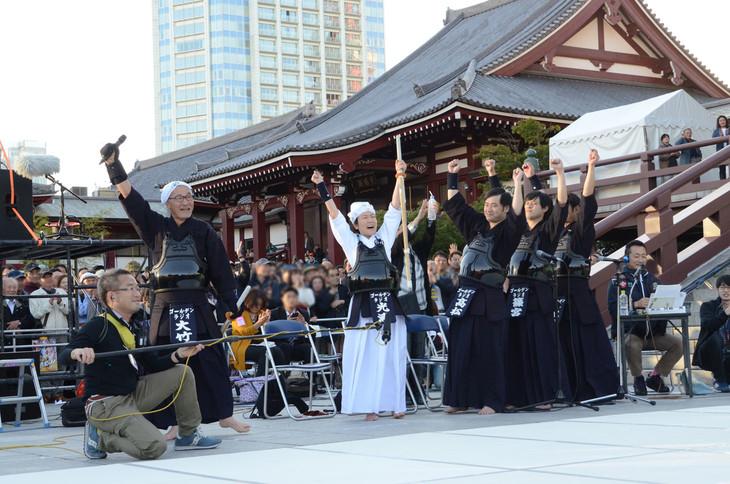 「吉田照美 飛べ!サルバドール」チームに勝利したゴールデンラジオ剣道部。