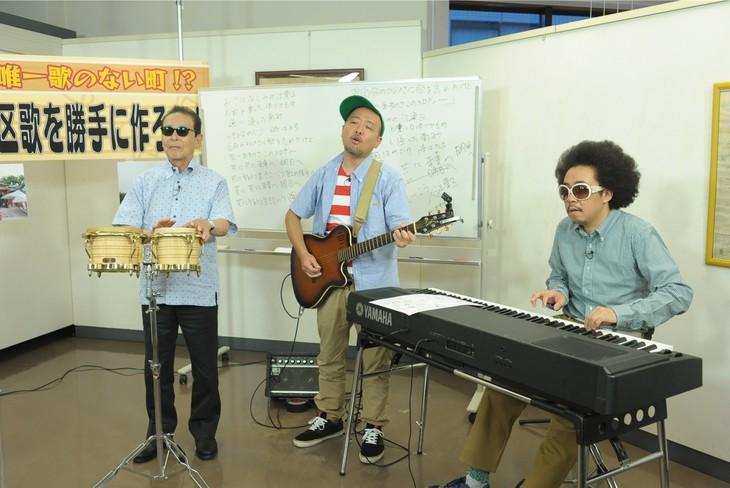 「タモリ倶楽部」に出演する(左から)タモリ、マキタスポーツ、レキシ。(c)テレビ朝日