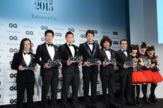 「GQ Men of the Year 2015」の受賞者たち。