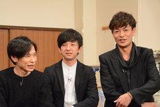 パンサー向井(中央)と中村昌也(右)は「七人のコント侍」初出演。
