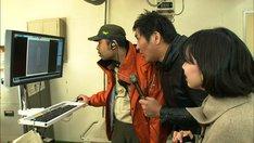 スリムクラブ真栄田(中央)が登場するVTRのワンシーン。(c)ABC