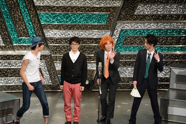 左からぷりずん逢見、広田陽、小野竜輔、デニス松下