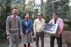 (左から)玉袋筋太郎、いとうあさこ、タモリ、カンニング竹山。(c)テレビ朝日