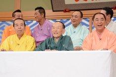 「笑点」50周年記念記者会見の様子。
