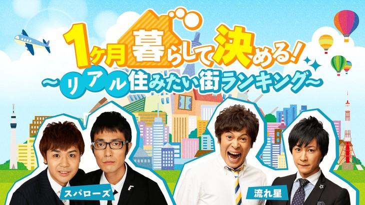 「1ヶ月暮らして決める!~リアル住みたい街ランキング~」イメージ (c)AbemaTV