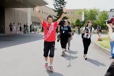 「RUN FORWARD KANPEI みちのくマラソン2016」の様子。
