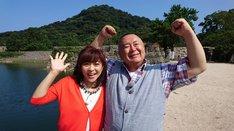 左から松本明子、松村邦洋。(c)読売テレビ