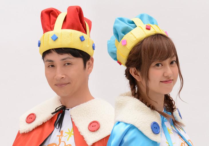 左からアンジャッシュ児嶋、菊地亜美。(c)静岡第一テレビ