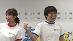 バカリズムと菜乃花(左)。(c)テレビ朝日