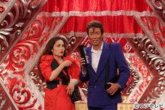「超ハマる!爆笑キャラパレード」に出演する(左から)平野ノラ、マイケル富岡。