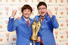 「M-1グランプリ2016」で優勝した銀シャリ。