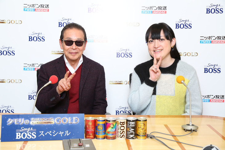 左からタモリ、能町みね子。(c)ニッポン放送