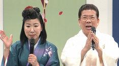 「春一番!笑売繁盛」司会のハイヒール・リンゴと西川きよし(左から)。(c)MBS