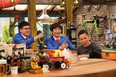 銀シャリとナインティナイン岡村。(c)関西テレビ