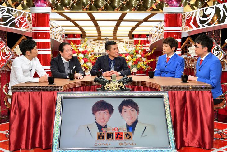 吉田たちら若手漫才師についてトークする(左から)NON STYLE石田、笑い飯、銀シャリ。(c)MBS