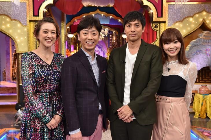 左からSHELLY、フットボールアワー後藤、チュートリアル徳井、指原莉乃。(c)日本テレビ