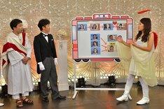 (左から)フットボールアワー、横澤夏子。(c)HBC
