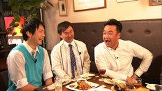 左からかまいたち濱家、かまいたち山内、たむらけんじ。(c)関西テレビ