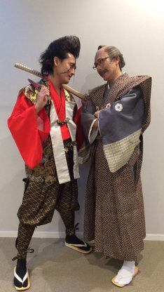 武将様とゴエ爺(左から)。