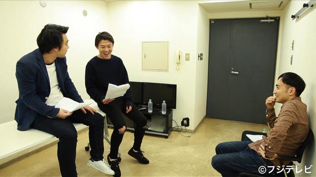 (左から)ジャングルポケットの斉藤とおたけ、かもめんたる・う大。