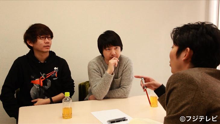 「オワライターズ#2」に出演する(左から)三四郎、NON STYLE石田。