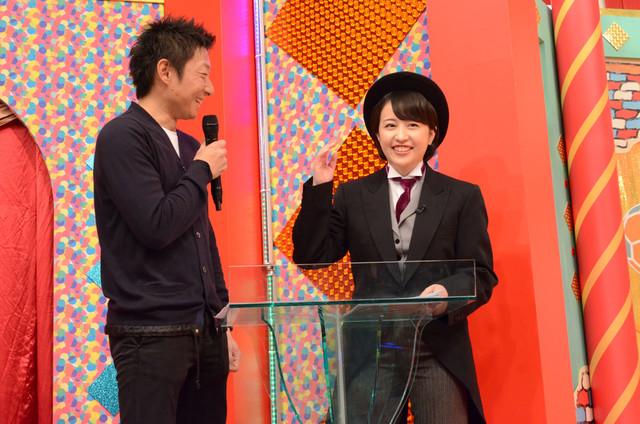 左から伊藤隆行プロデューサー、相内優香アナウンサー。