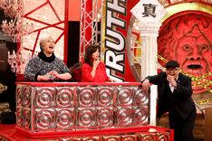 芸能人陪審員のナジャ・グランディーバ、オアシズ大久保(左から)。(c)関西テレビ