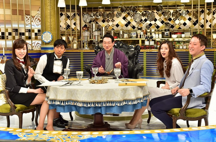 「人生最高レストラン」にゲスト出演する春風亭昇太(中央)。(c)TBS