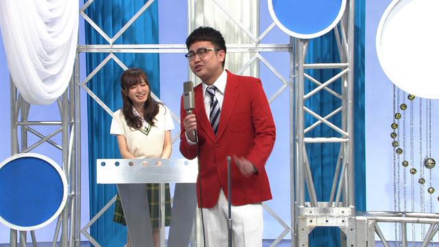 「ザ・大声クイズ」の司会者に挑戦する銀シャリ橋本。(c)テレビ東京