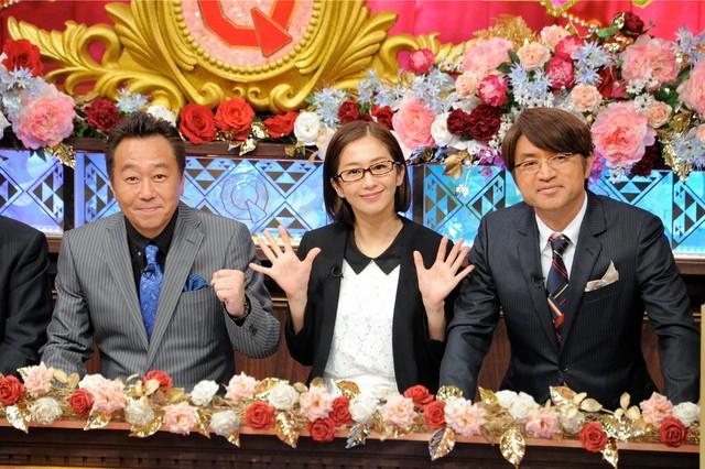 さまぁ~ずと優香(中央)。(c)テレビ朝日